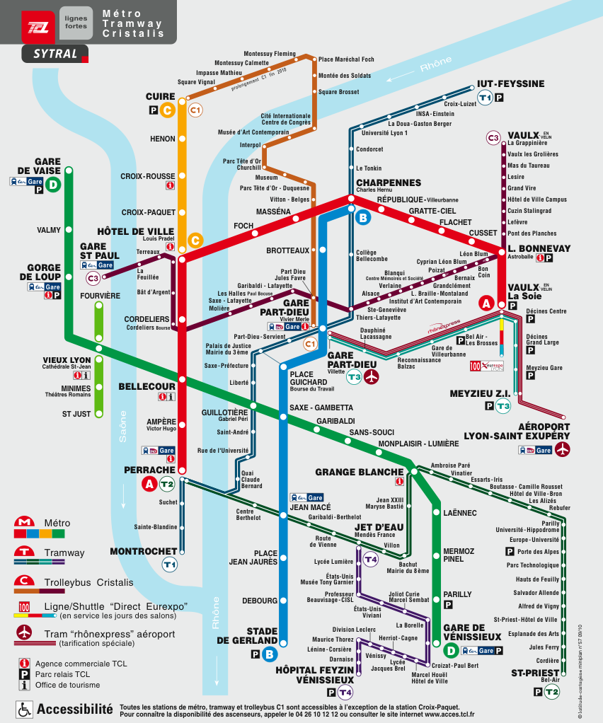 EVA 2011 LYON SUBWAY MAP